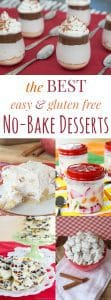 titled photo collage of the best gluten free no bake dessert recipes