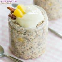 Humming Bird Cake Overnight Oats Recipe