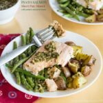 Pesto Salmon Sheet Pan Dinner