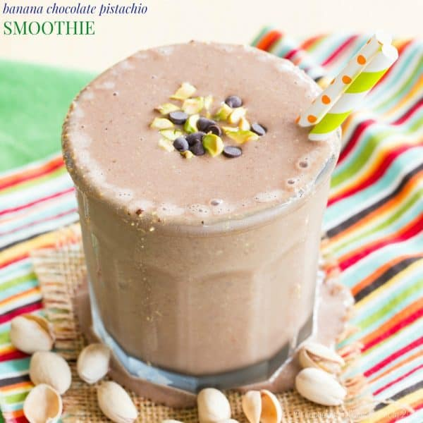 Banana Chocolate Pistachio Smoothie recipe