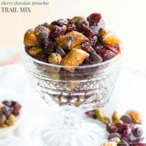Cherry Chocolate Pistachio Trail Mix Recipe