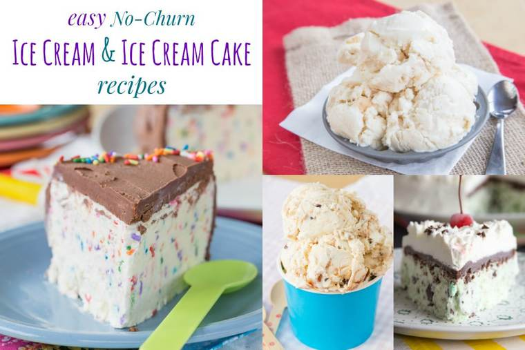 No-Churn Ice Cream Recipes and No-Churn Ice Cream Cake Recipes - the easiest homemade frozen desserts to make! No ice cream machine is required to create these delicious ice cream dessert recipes!
