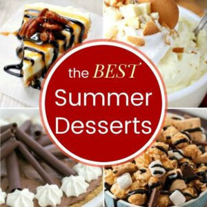 photo collage of easy summer desserts