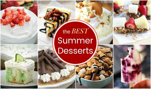 The Best Summer Dessert Recipes - all the summer treats you need with fruit desserts, no-bake dessert recipes, ice cream, popsicles, and more from your favorite food bloggers!