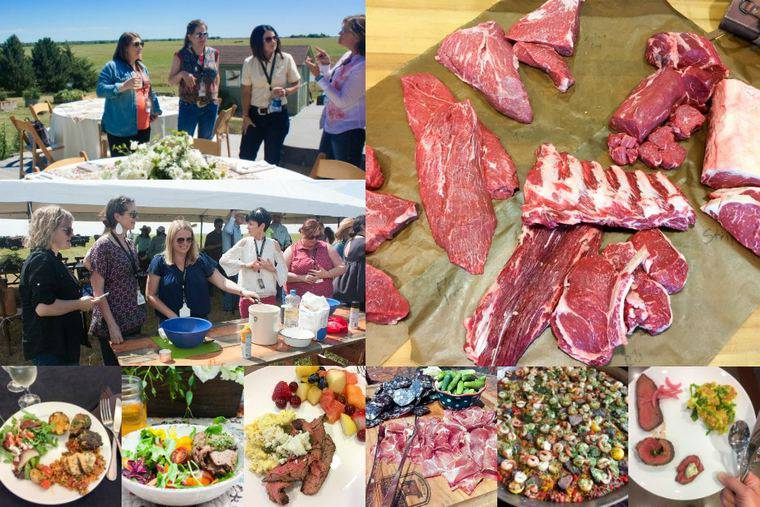 A Collage of Photos of the Food Served at the CAB Ranch