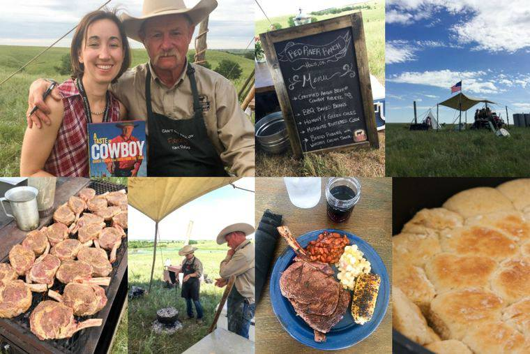 Seven Various Photos From the Cattle Ranch in a Single Collage