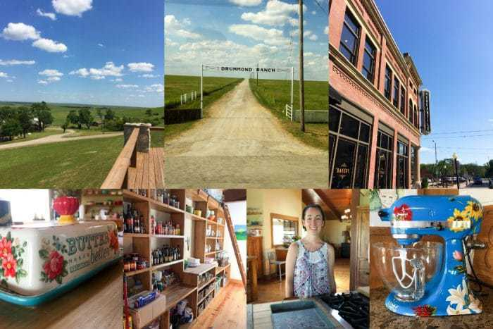 photo collage of images from the Drummond Ranch in Oklahoma