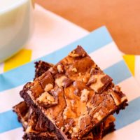 Fudgy Flourless Peanut Butter Cup Brownies