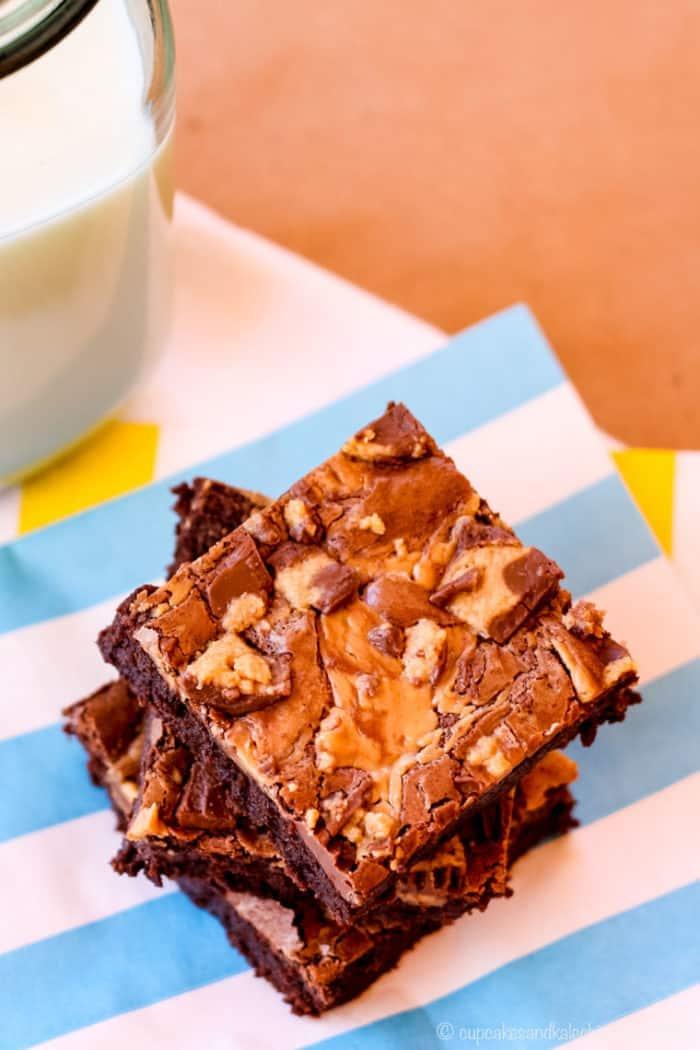 Flourless Peanut Butter Cup Brownies