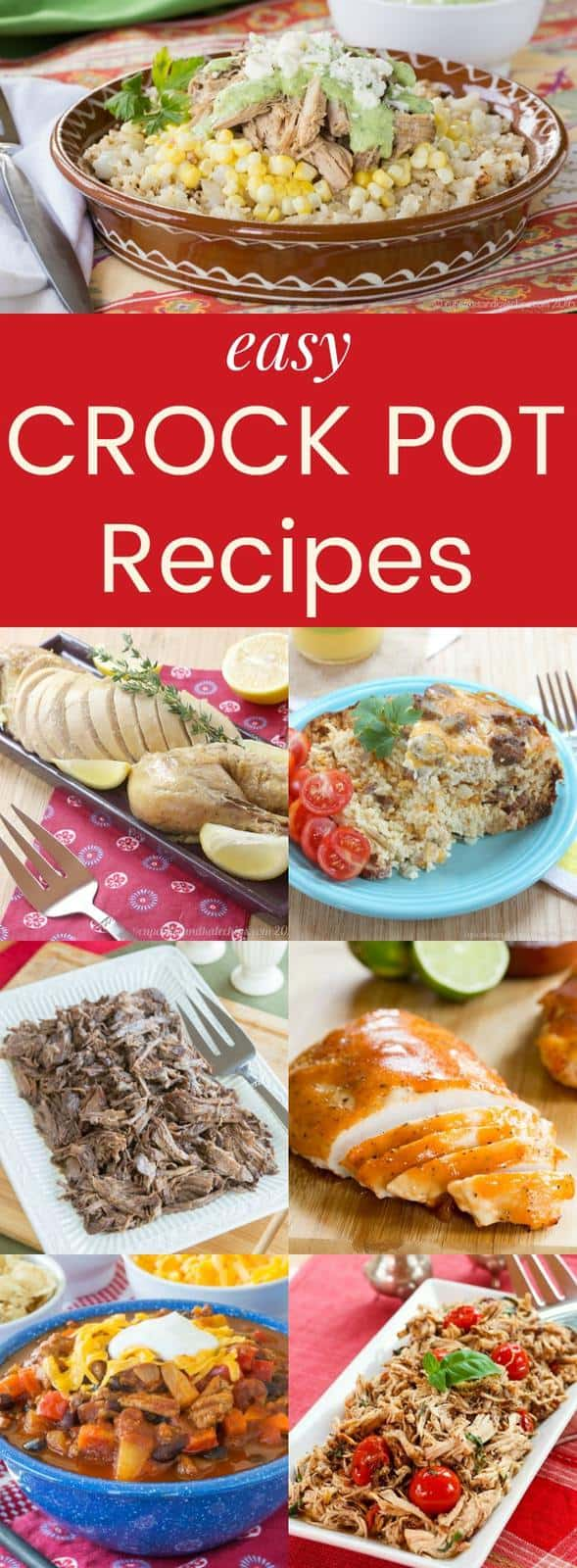 Each Crock Pot Recipes - these slow cooker recipes are perfect for busy days especially during back-to-school season. Breakfast, dinner, and dessert ideas!
