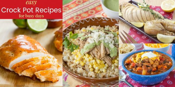 Slow Cooker Recipes with easy meals from your crock pot