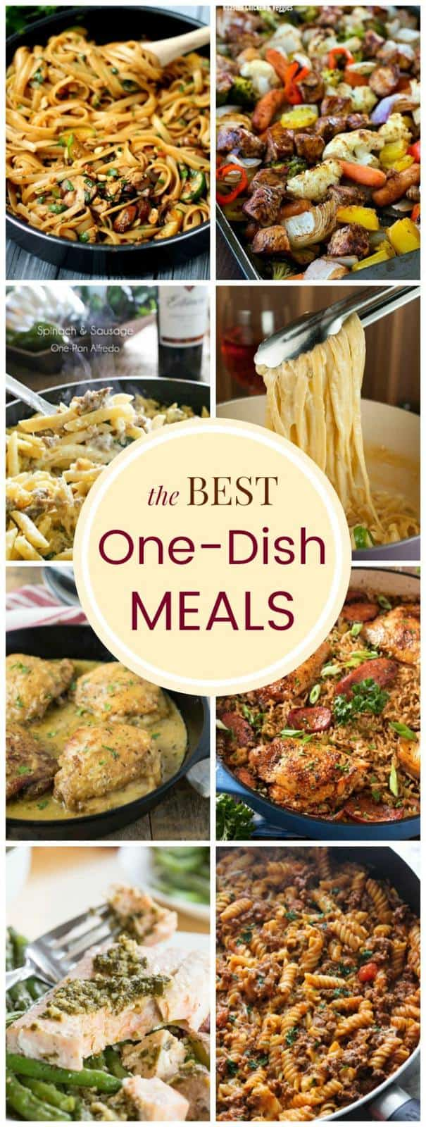 The Best One-Dish Meals are quick and easy dinner recipes for bust days. One pot pasta dishes, skillet meals, sheet pan dinners and more!