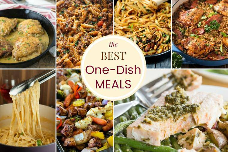 Best One Dish Meals - one pot recipes, skillet meals, sheet pan dinners