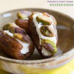 Pistachio Cream Cheese Stuffed Dates