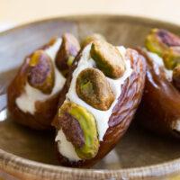Pistachio Cream Cheese Stuffed Dates