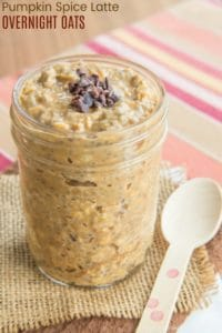 Pumpkin Spice Latte Overnight Oats Recipe