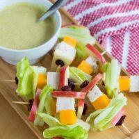 Apple Cheddar Chicken Salad on a Stick