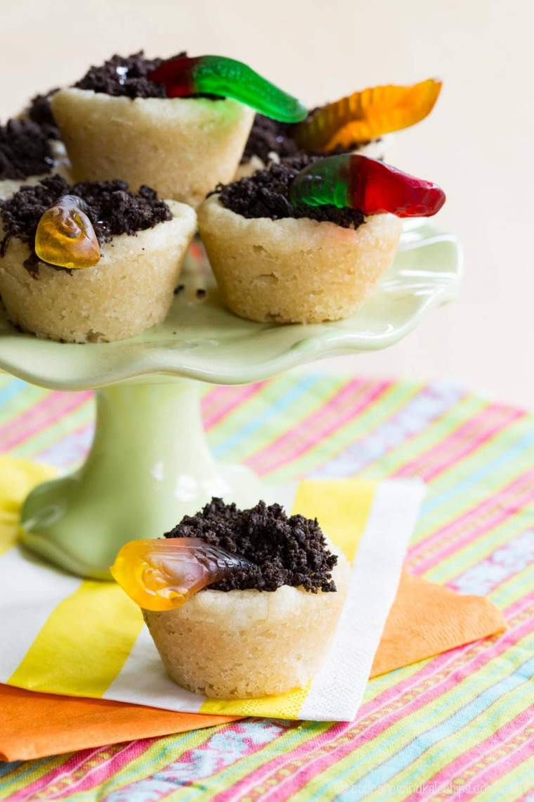 Worms And Dirt Cookie Cups Cupcakes Amp Kale Chips