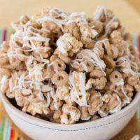 Banana Nut Cheerios White Chocolate Popcorn Snack Mix