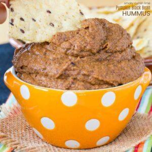 Pumpkin Black Bean Hummus with Cumin Lime Black Bean Dip Recipe