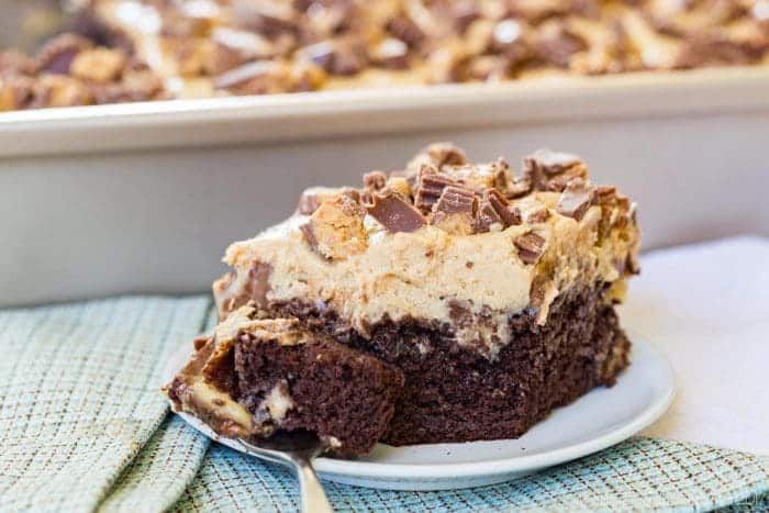 Reese's Peanut Butter Cup Poke Cake