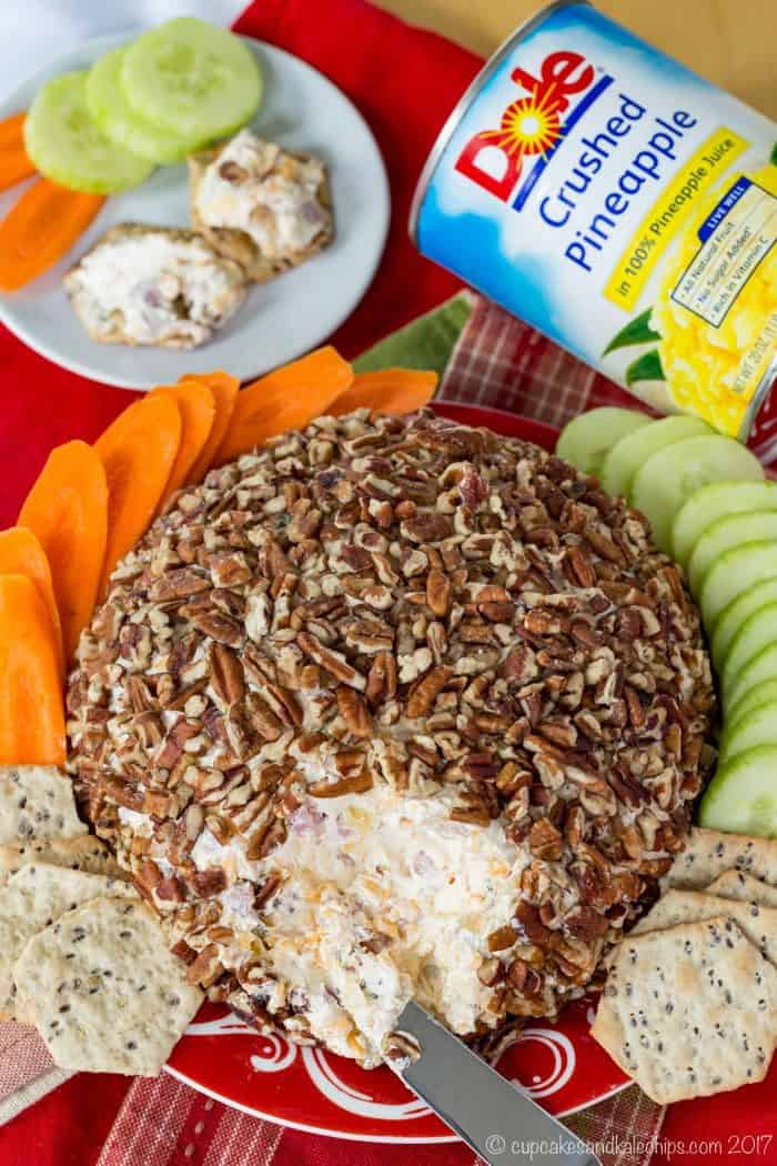 Pineapple Ham Cheeseball recipe is an easy appetizer recipe for the holidays.