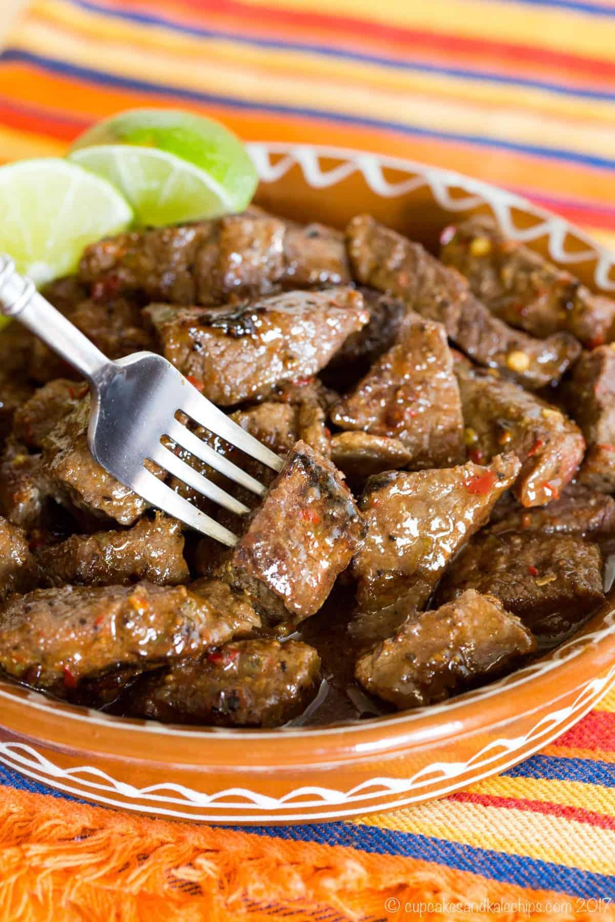 Chili Lime Steak Bites