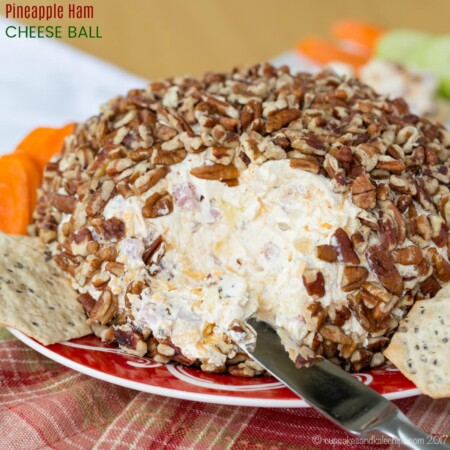 Pineapple Ham Cheese Ball Recipe easy appetizer from Cupcakes and Kale Chips