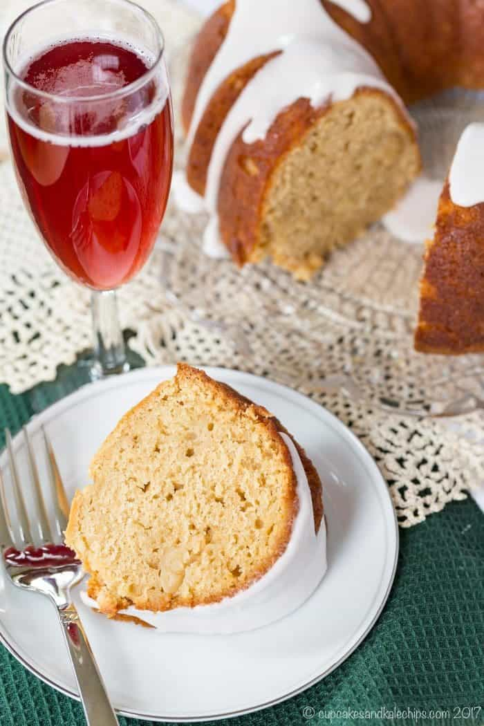 Gluten-Free Sparkling Apple-Cranberry Pound Cake - a simple apple bundt cake recipe with instructions using all-purpose flour for a traditional recipe too.