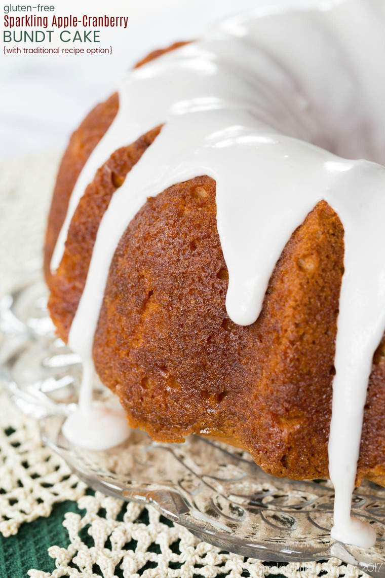 Gluten Free Sparkling Apple-Cranberry Bundt Cake Recipe