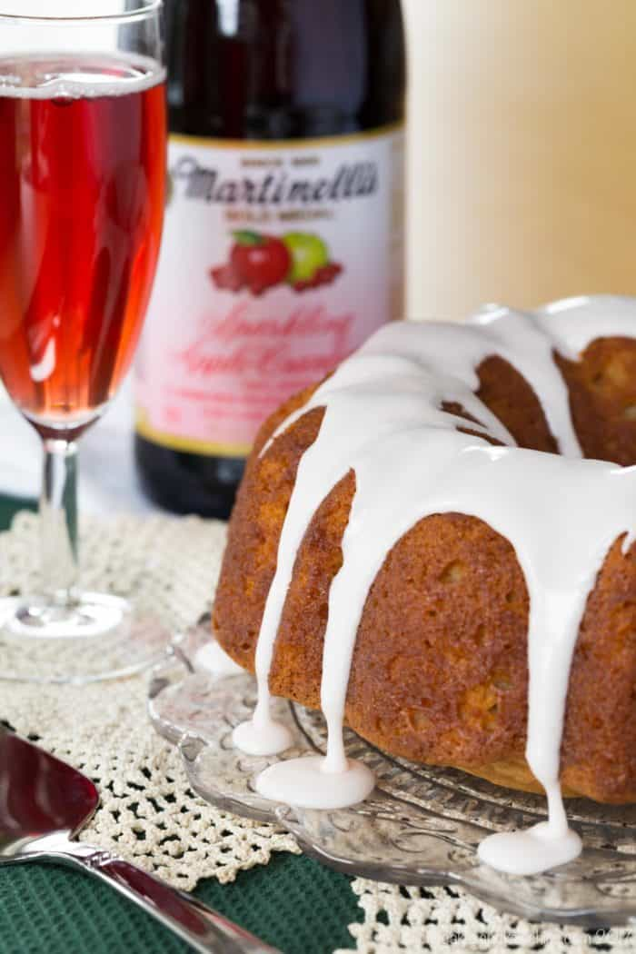 Gluten-Free Sparkling Apple-Cranberry Bundt Cake