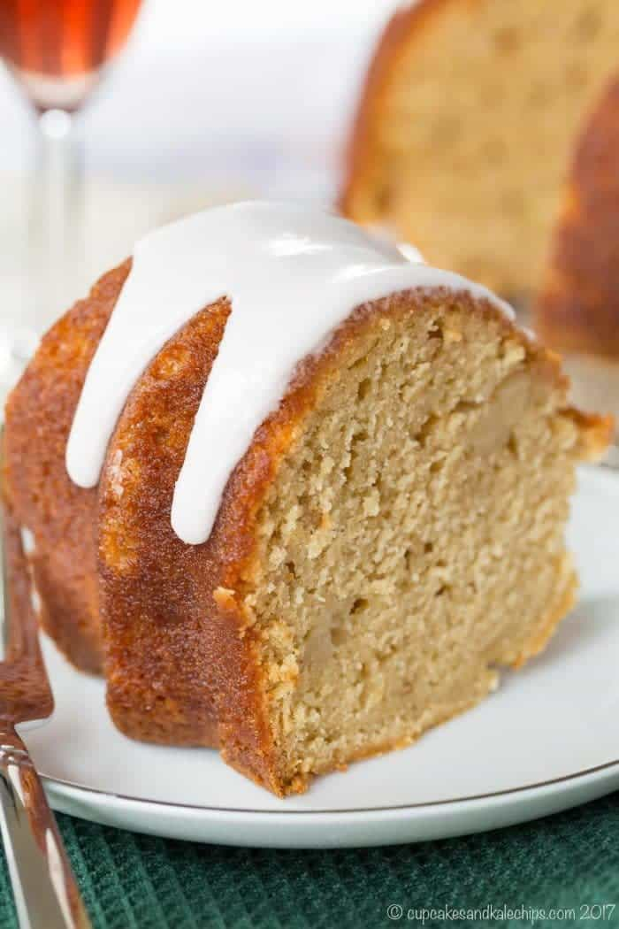Gluten-Free Sparkling Apple-Cranberry Bundt Cake - a simple apple pound cake recipe with instructions using all-purpose flour for a traditional recipe too.