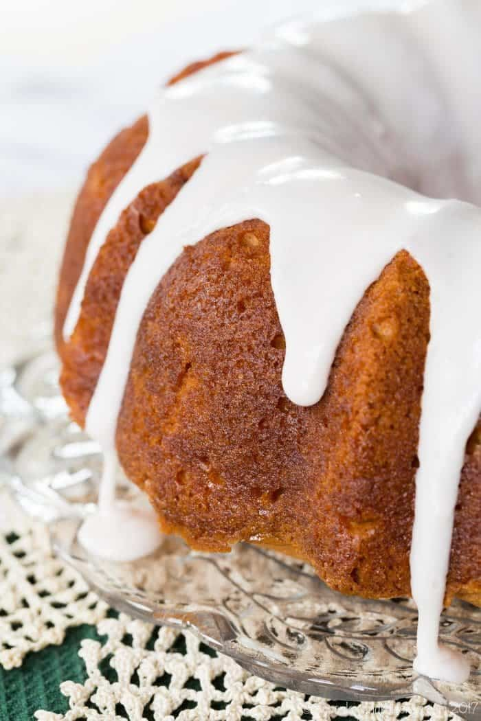Sparkling Apple-Cranberry Gluten Free Bundt Cake recipe - a simple apple pound cake with all-purpose flour traditional recipe too.