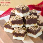 Double Chocolate Toffee Caramel Fudge - easy microwave fudge recipe