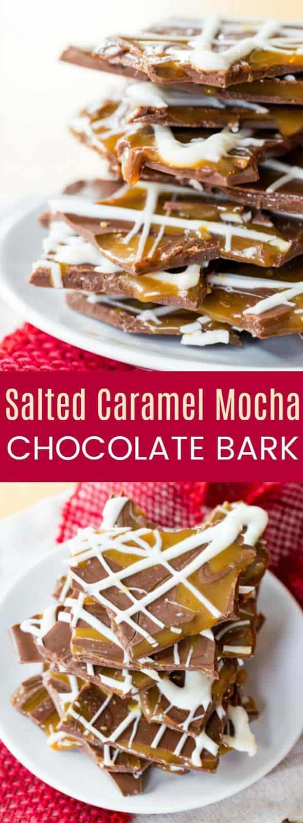 Salted Caramel Mocha Chocolate Bark from cupcakesandkalechips