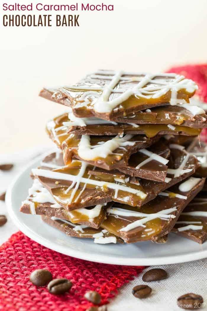 Salted Caramel Mocha Chocolate Bark Recipe