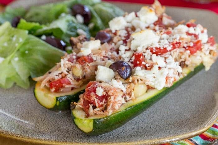 Stuffed Zucchini Boats with Chicken