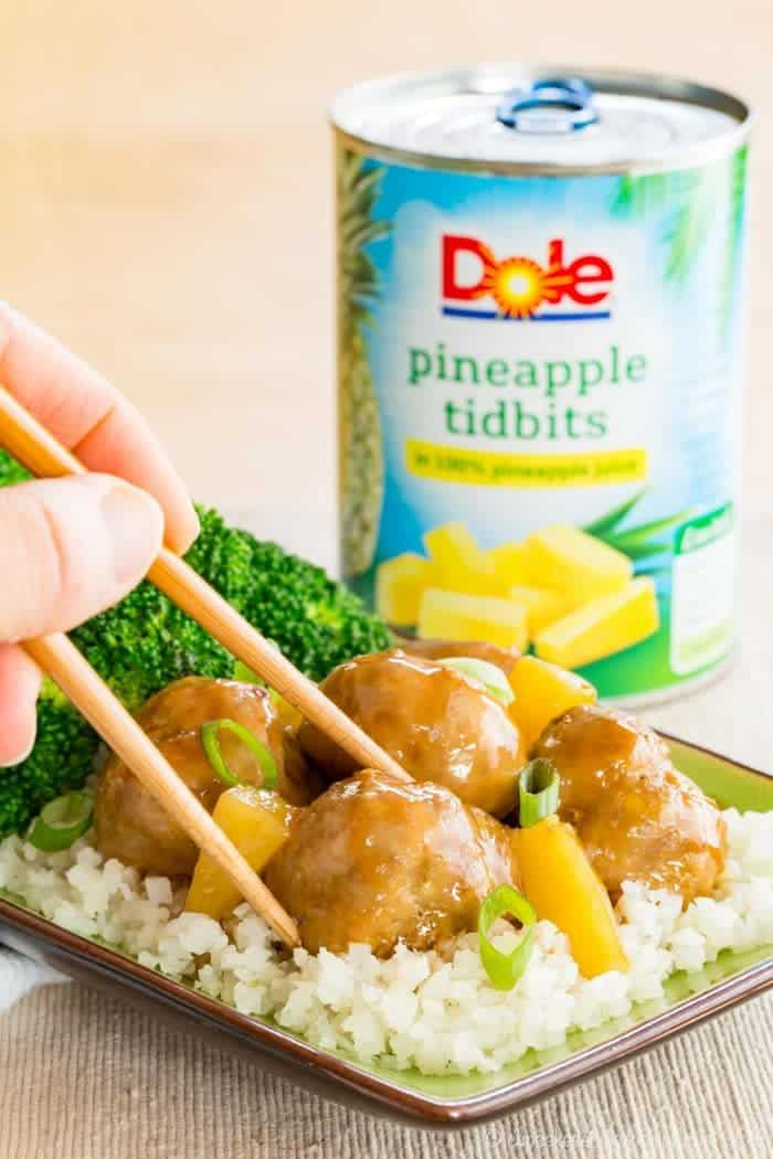 Dole Pineapple Turkey Teriyaki Meatballs Recipe