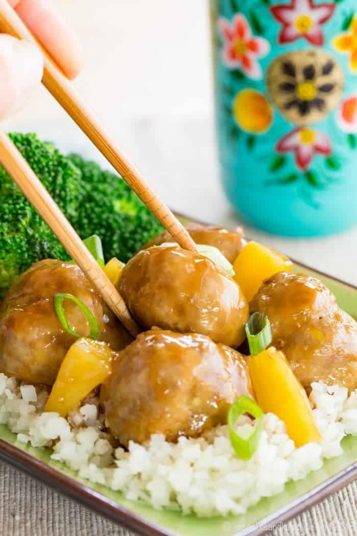 Turkey Teriyaki Meatballs Recipe