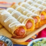 Hot Dog Baked Taquitos Recipe