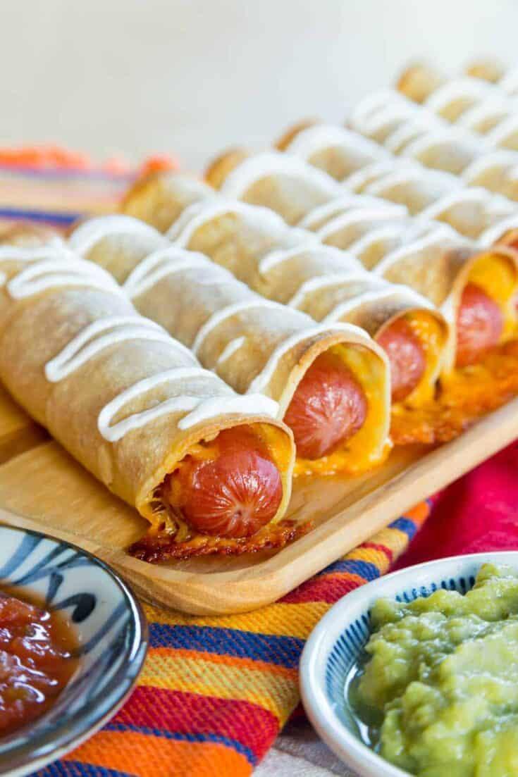 Cheesy Hot Dog Taquitos
