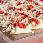 Peanut Butter and Jelly Cheesecake Apple Nachos Snack Recipe