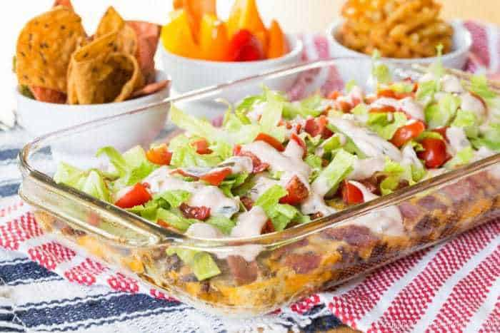 Hot Cheesy Seven-Layer Dip Recipe