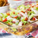 Seven-Layer Bacon Cheeseburger Dip appetizer recipe