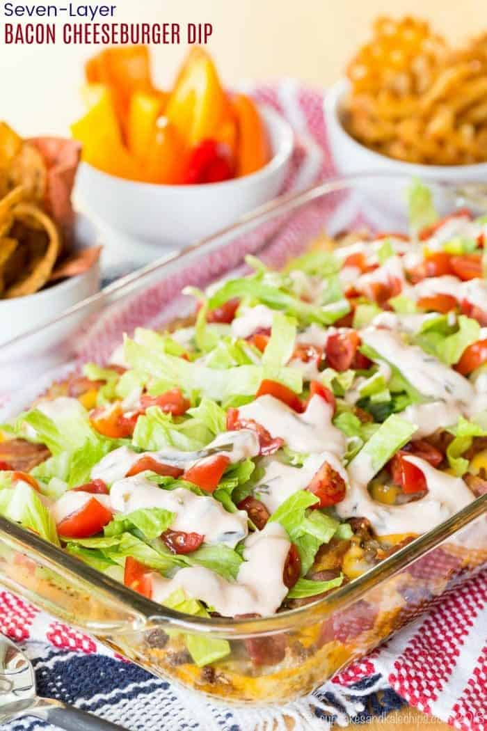 Seven-Layer Bacon Cheeseburger Dip recipe