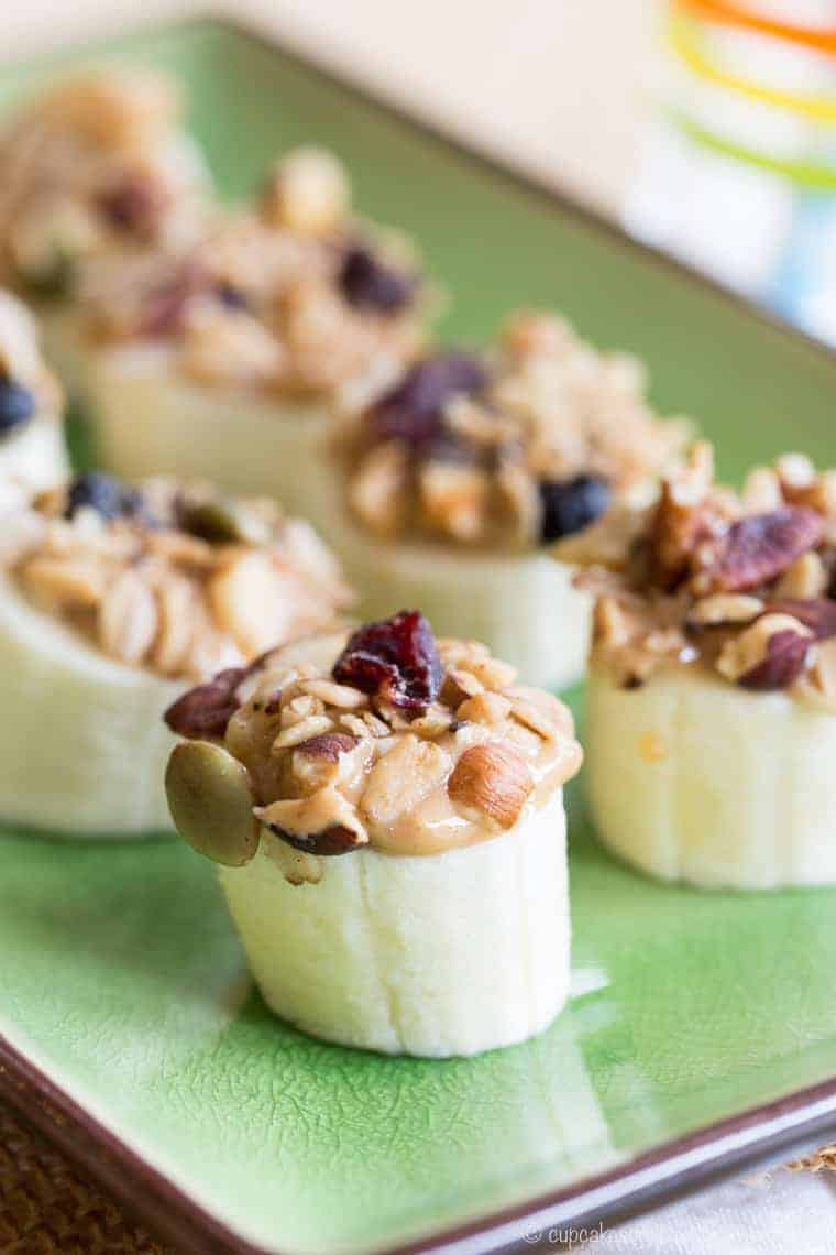 Easy Peanut Butter Banana Snacks that look like sushi