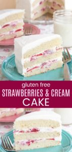 Gluten Free Strawberries and Cream Cake Collage