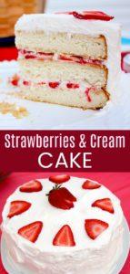 Strawberries and Cream Cake Collage