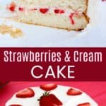 Strawberries and Cream Cake Collage
