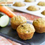 Gluten Free Carrot Zucchini Mini Muffins